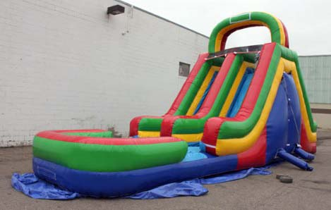 18ft Double Lane Slide