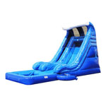 16ft Wave Water Slide with Pool