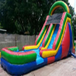 18ft Double Lane Water Slide with Pool