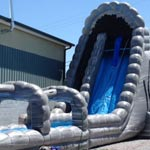 32ft Roaring River Slip n Slide with Pool